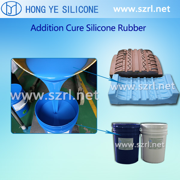 Addition cure silicone for tire mold