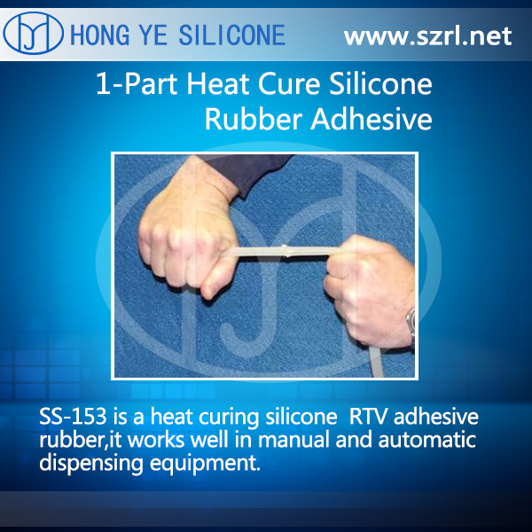 SS-153  1-Part Heat Cure Silicone Rubber Adhesive