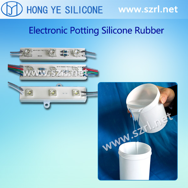 Silicone rubber for potting