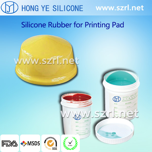 Pad printing silicone for plastic toys