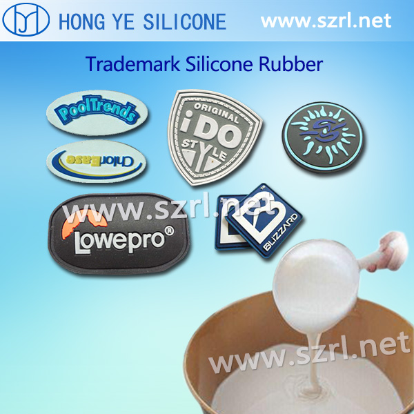 Silicone rubber for trademark making