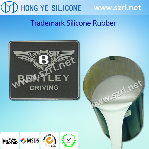 Silicone rubber for trademarks