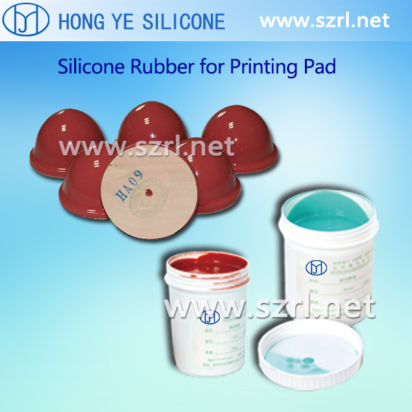 Pad print silicone for stationery